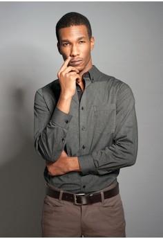 Gent Black Stripe Button Down Shirt