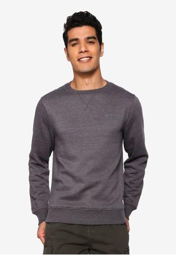 BLEND grey Mini Logo Sweatshirt D86FDAA59331A8GS_1