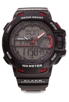 Tanker Unisex Rubber Strap Watch MS-1606G-BLK