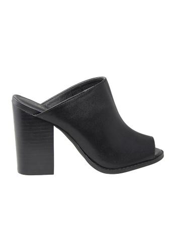 London Rag black SH1015 peep toe sandal LO704SH54GIRHK_1