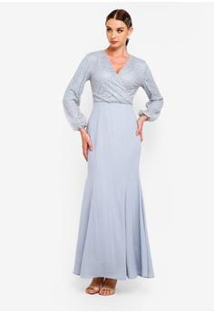efe15e9996e Zalia Embroidered Lace Wrap Mermaid Dress S  79.90. Sizes XS S M L XL