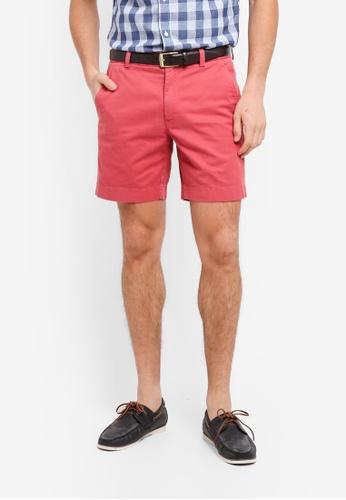 Brooks Brothers 紅色 休閒素色短褲 F7F4AAA64EAE70GS_1