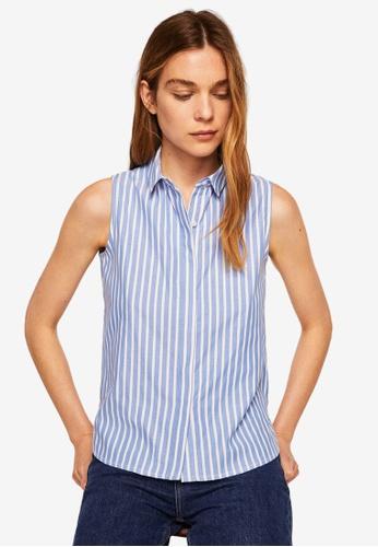 Mango blue Buttons Details Shirt 2ECC2AAC11286DGS_1