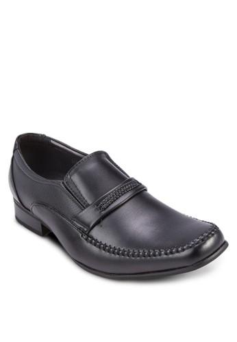暗紋拼接商務皮鞋, 鞋, esprit 會員鞋