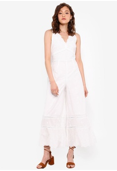 bf74d0f494c8 Miss Selfridge white Petite Ivory Ivory Wide Leg Jumpsuit 382ADAA1726995GS_1