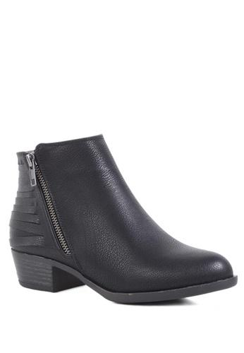 London Rag black Zipper Ankle Boots D8F15SH407CE3CGS_1