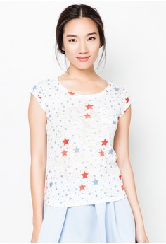 Burn Out Top With Print