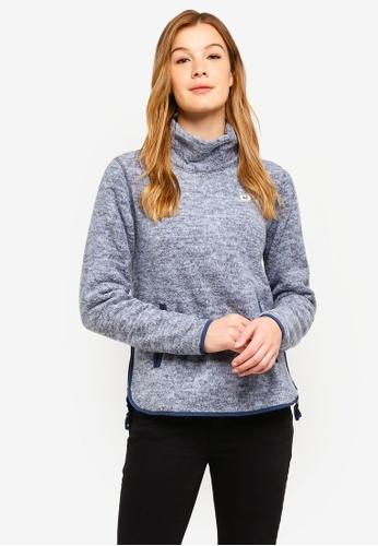 Abercrombie & Fitch blue P Fleece Cowl Neck Sweatshirt C88FCAA6BE4371GS_1