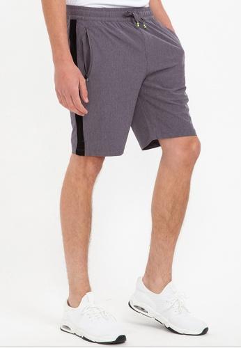 Bossini grey Ztay Dry -  4-way Stretch Shorts FEC2AAAE96787FGS_1