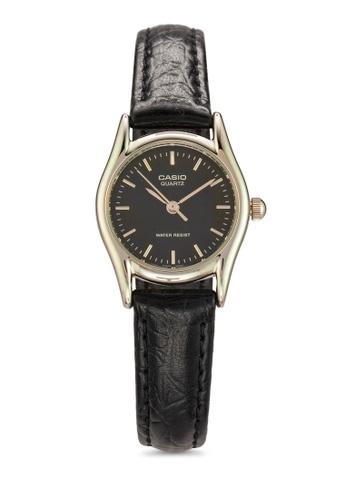 Casio black Casio Standard Women's Black Leather Strap Watch LTP-1094Q-1ARDF CA843AC85MKCMY_1