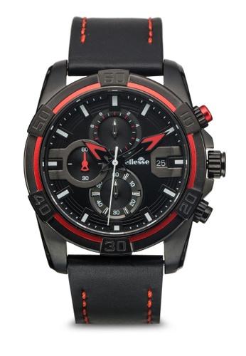 ellesse black and red Men's Chronograph Quartz Watch EL595AC02AMNSG_1