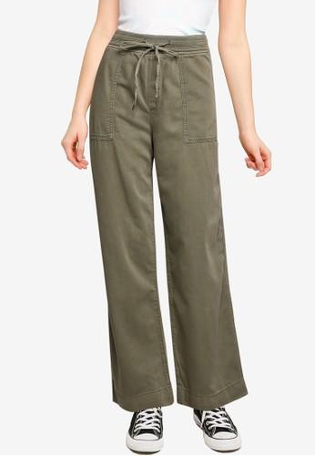Gap green Rib Combo Pull-On Wide Leg Pants 56686AA71D819AGS_1