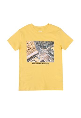 FOX Kids & Baby yellow Graphic Print T-Shirt B1333KA8E58B18GS_1