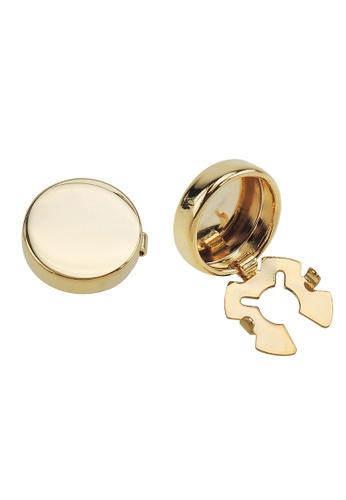 CUFF IT gold Gold Blank Button Cover Cufflinks DDA2EAC662A95DGS_1