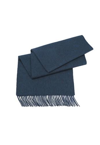 zalora 台灣門市絲原圍巾 - 墨綠, 飾品配件, 披肩