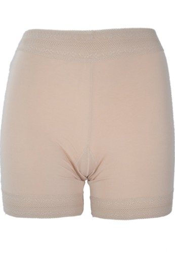 Cynthia brown Mid Thigh Panty With Lace Accent-Two Way-Brown CY646US38HJTID_1