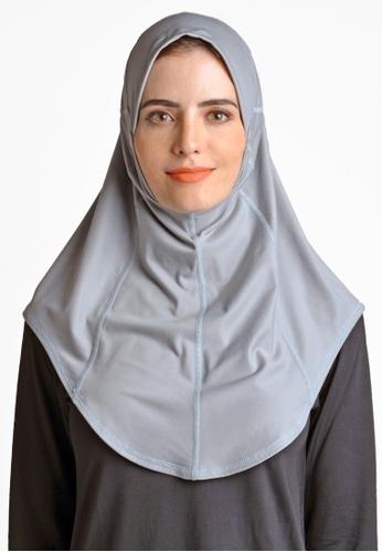ViQ grey ViQ Active Airy Hijab BFCF3AA5ABB1EDGS_1