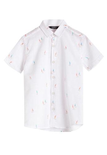 LC Waikiki white Boy's Poplin Shirt 1A2C6KA6651F3AGS_1