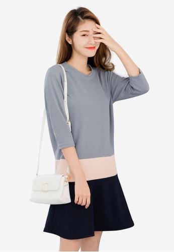 Sesura grey That Sweet Blocked Dress D6D44AA3F85D3EGS_1