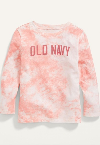 Old Navy pink Toddler Girls Long-Sleeve Logo-Graphic Tie-Dye Tee FBDB6KAA780A49GS_1