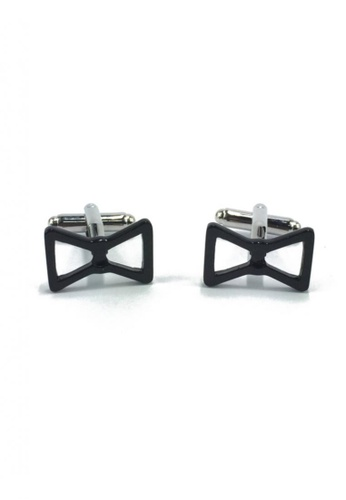 Splice Cufflinks black Black Bow Cufflinks SP744AC50EYVSG_1