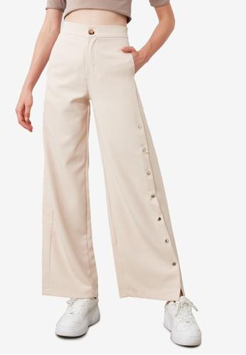 Trendyol beige Stone Pants E3FC1AAD8EC63FGS_1