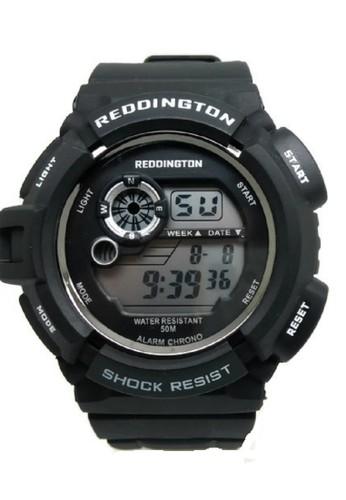 Reddington Jam Tangan Pria Hitam Putih Rubber Strap R0939
