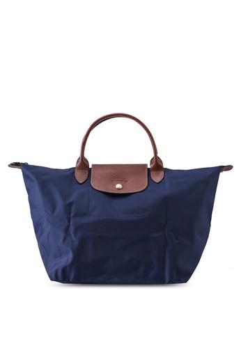 LONGCHAMP blue Le Pliage Original Top Handle Bag M (nt) 21E00AC95D696BGS_1