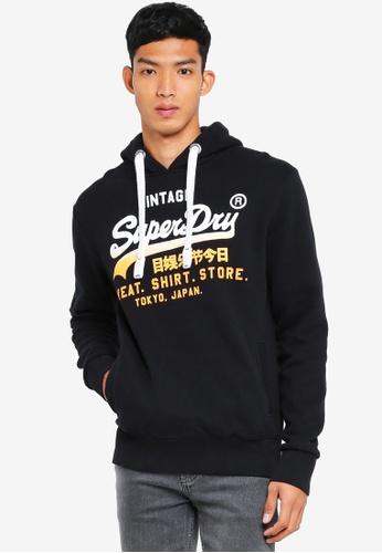 Superdry black Sweat Shirt Store Fade Hood 2CE40AAA9019B1GS_1