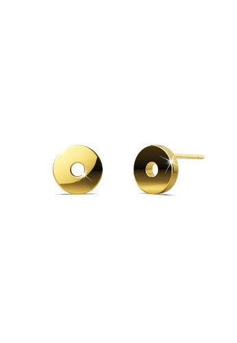 Bullion Gold gold BULLION GOLD Bold Initial Alphabet Letter Earrings Gold Layered Steel Jewellery- O 49D50AC4BD132DGS_1
