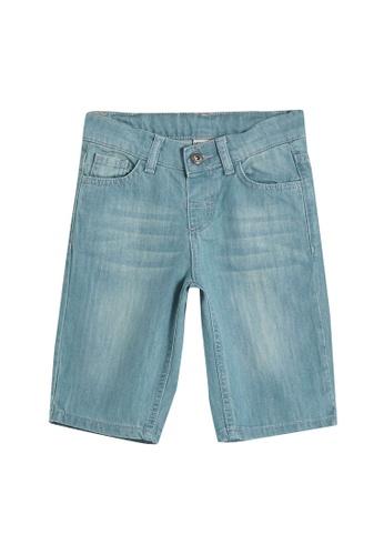 LC Waikiki blue Boy's Roller Denim Shorts 6FB08KA5B98561GS_1