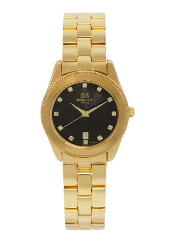 Roscani gold Roscani Mae B66 (Dual Pattern Dial) Gold Black Bracelet Women Watch 47838AC4F15E36GS_1