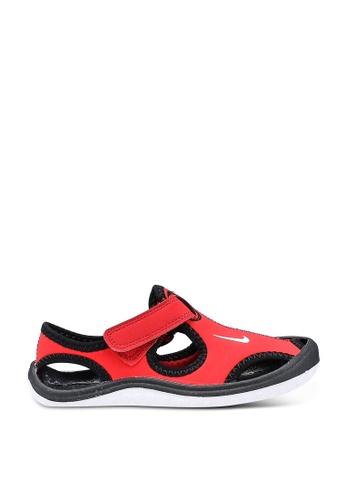 Nike red Boys' Nike Sunray Protect (PS) Pre-School Sandal 82707KS4C10E78GS_1