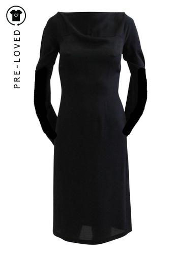 Maison Martin Margiela black Pre-Loved maison martin margiela Black Long Sleeved Dress 3753EAA7CE9719GS_1