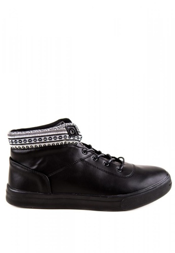 Otto black High Cut Shoes CBEEESHBFB3524GS_1