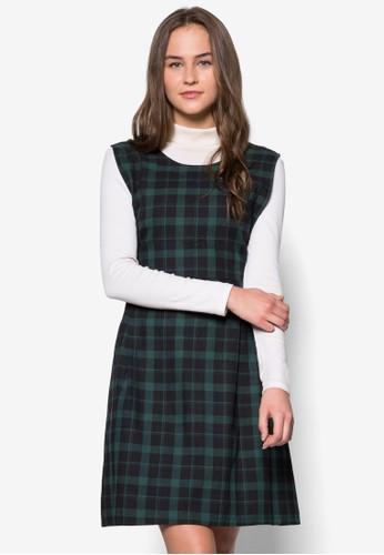 格esprit hong kong 分店紋繫帶洋裝, 服飾, 短洋裝