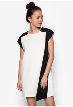 Colourblocked Panel Dress