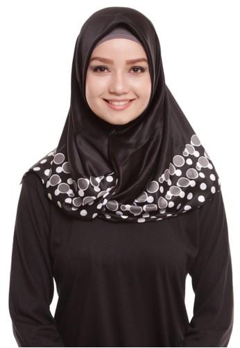 Mybamus Bubble Square Hijab Satin Black