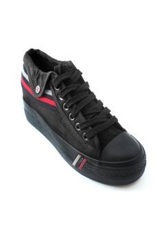 British Style Hidden Wedge Sneakers
