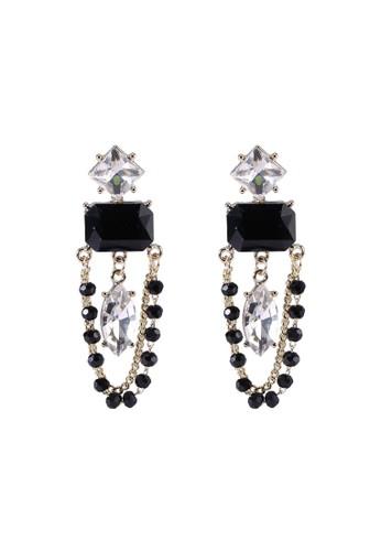 Red's Revenge black Glamour Gems Dangle Earrings BF49AAC30547C8GS_1