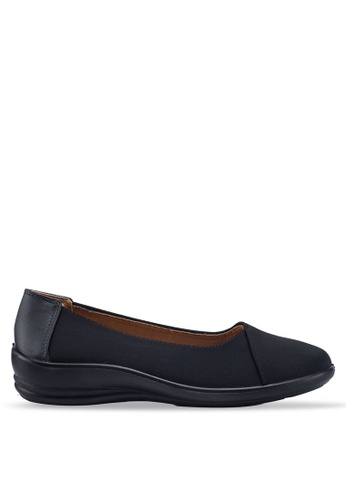 Louis Cuppers black Round Toe Flats 2FE86SHA727D6EGS_1