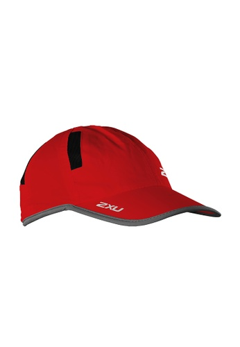 2XU red and multi Unisex Run Cap 2X697AC2VMJHHK_1