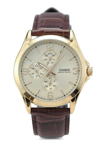 Casio brown Casio MTP-V301GL-9AUDF Watch 3DC23AC9656D31GS_1