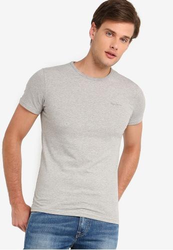 cbf7efbf427b72 Pepe Jeans grey Original Basic T-Shirt With Logo 50C1CAA41F14E8GS 1