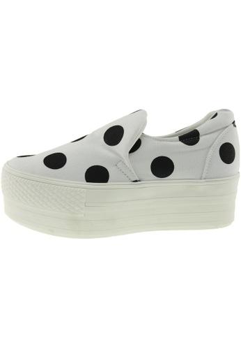 Maxstar 白色 新款韩国鞋C50-Span-Dot時尚帆布布混合女白色 US Women Size MA345SH37GVQTW_1