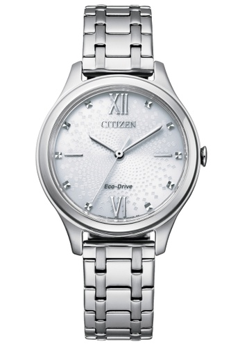 Citizen silver Citizen Eco-Drive EM0500-73A White and Silver Stainless Steel Watch 9280BACF2BB385GS_1