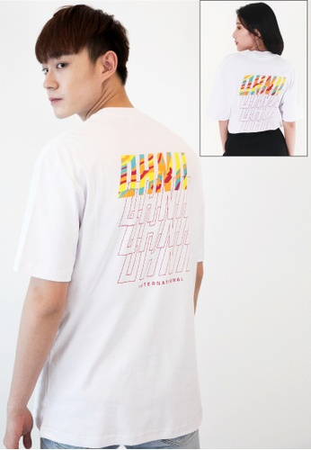 OHNII white OVERSIZED CAMO REPETITION PRINT COTTON JERSEY T-SHIRT (WHITE) 832D6AAB452C3FGS_1