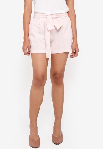Dorothy Perkins pink Blush Sash Tie Shorts EFE57AADEEC539GS_1