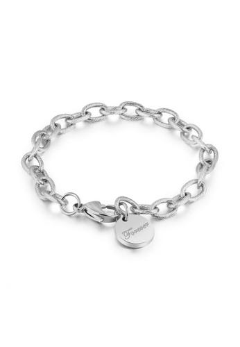 CELOVIS silver CELOVIS - Forever Round Disc Tag Pendant Bracelet in Silver 1BF20AC1C6E809GS_1