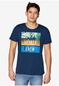 d34a4e014 ESPRIT navy Jersey Cotton T-Shirt A4773AA6DFEE78GS 1